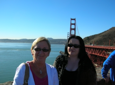 Mom and Daughter at Golden Gate bridge. _1