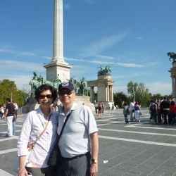 Tourists in Hungary
