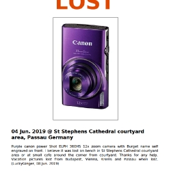 Lost Canon Camera