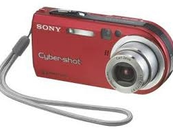 Sony Cybershot red camera