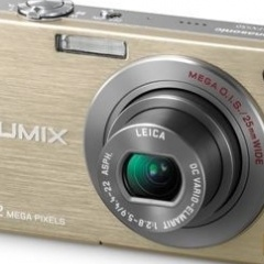 Gold Panasonic Lumix FX550 Camera lost in a Renault Scenic hitchhiking between Amsterdam and Belgium_3